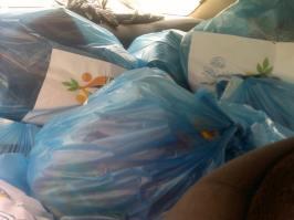 Des colis prêts à être distribués, transportés