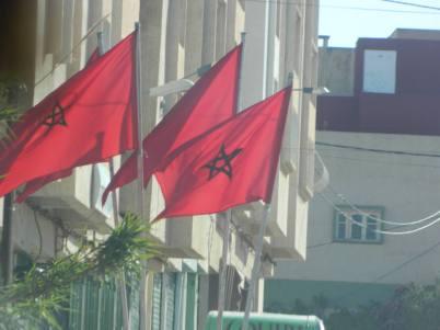 Les drapeaux du Maroc