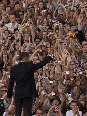 Obama, des airs de rock star