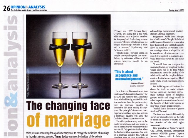 The changing face of marriage (1 of 2)