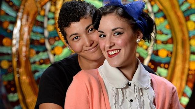 Ilana and Chrissie were the first gay couple to have a marriage ceremony at a Jewish synagogue in Melbourne at Temple Beth Is...