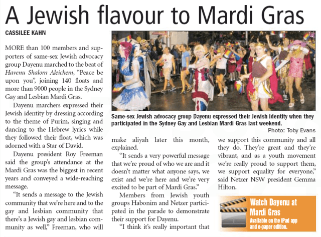 ajn 20120309 p5 A Jewish flavour to Mardi Gras