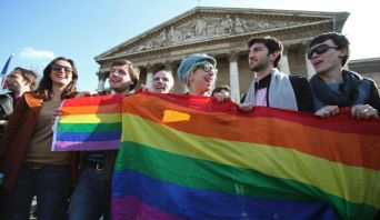 Same-sex marriage advocates celebrate in France