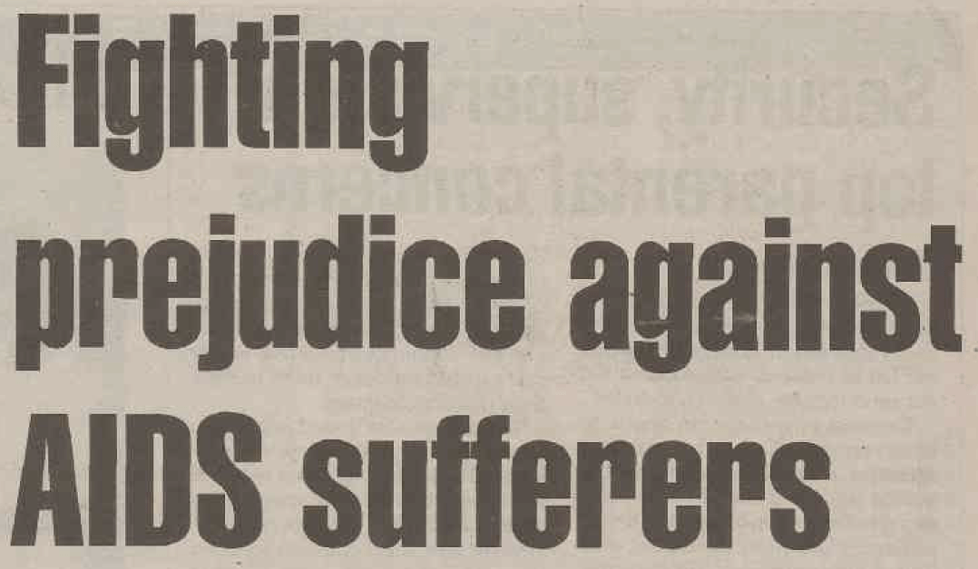 1995 in the AJN: Fighting prejudice against AIDS sufferers