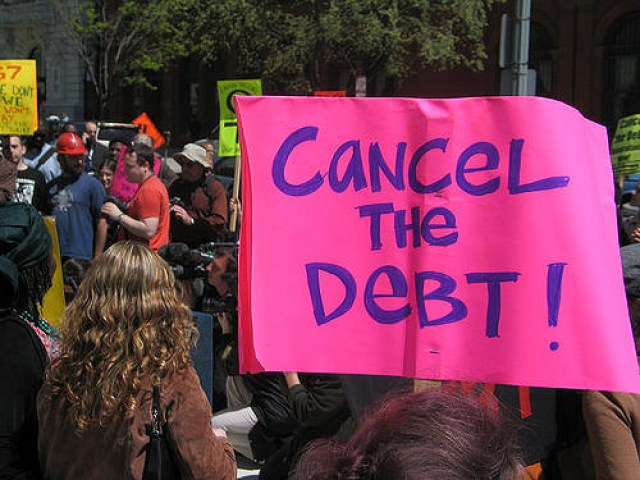 Photo Credit: Friends of the Earth International || Note: the above is just a photo to illustrate a point. I do not endorse debt cancellation under most coircumstances