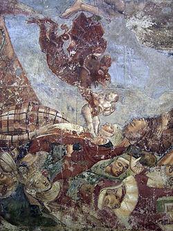 בואונמיקו בופלמקו, השטן חוטף נשמה, פרט מתוך ציור הקיר צעדת המוות