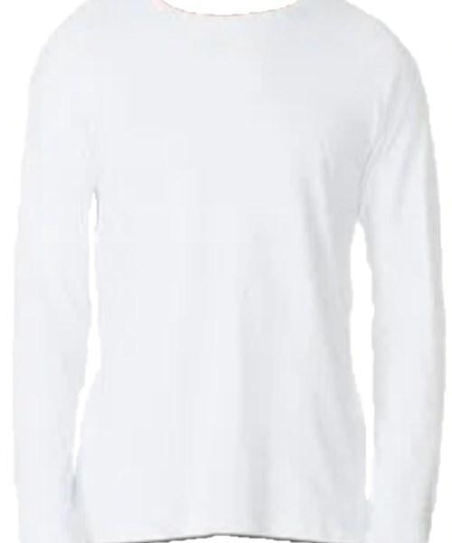 Camiseta Raglan Branca Manga Longa