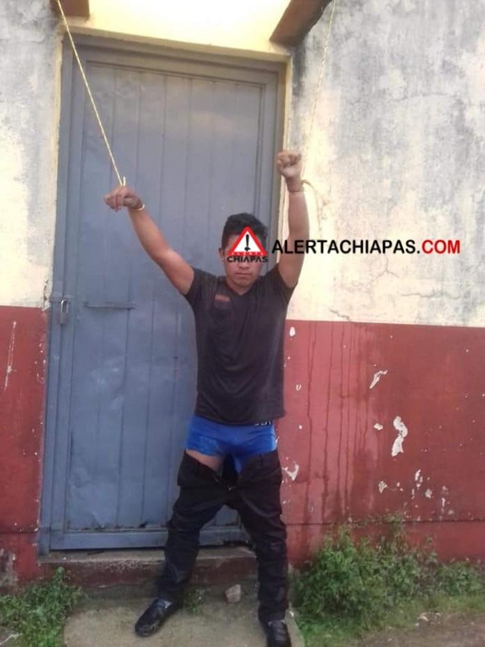 Cae presunto secuestrador en San Andrés Larrainzar img 6185