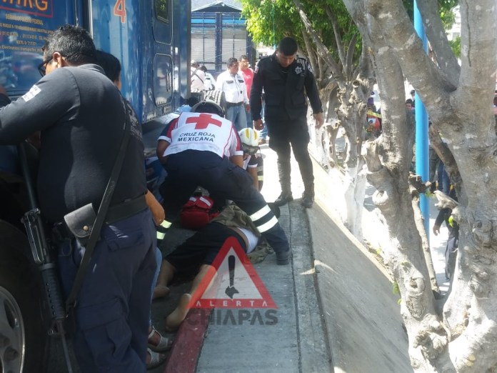 Muere trailero en riña en la central de abastos de #Tuxtla img 0831