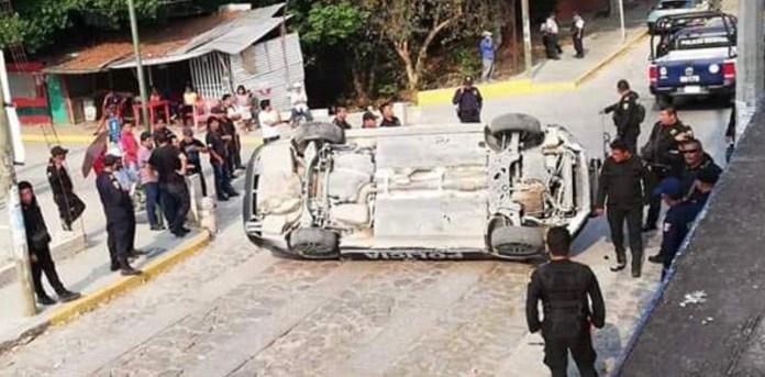 Vandalizan patrullas tras rescate de presuntos ladrones en #Copoya img 3186
