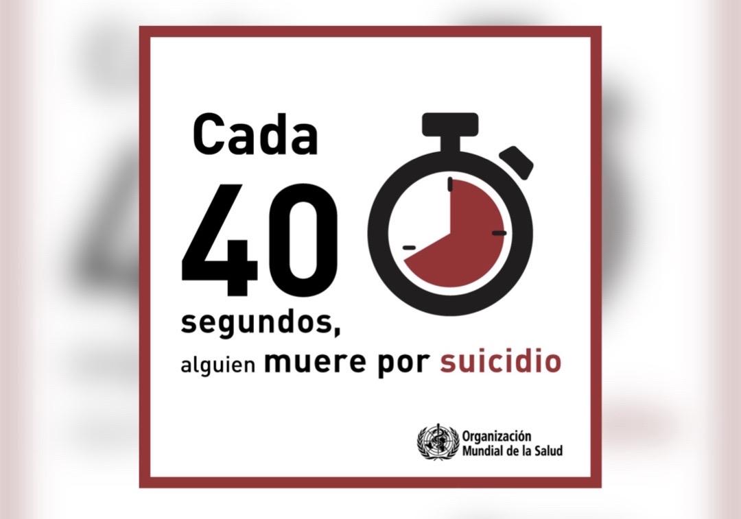 UN SUICIDIO CADA 40 SEGUNDOS EN EL MUNDO: OMS