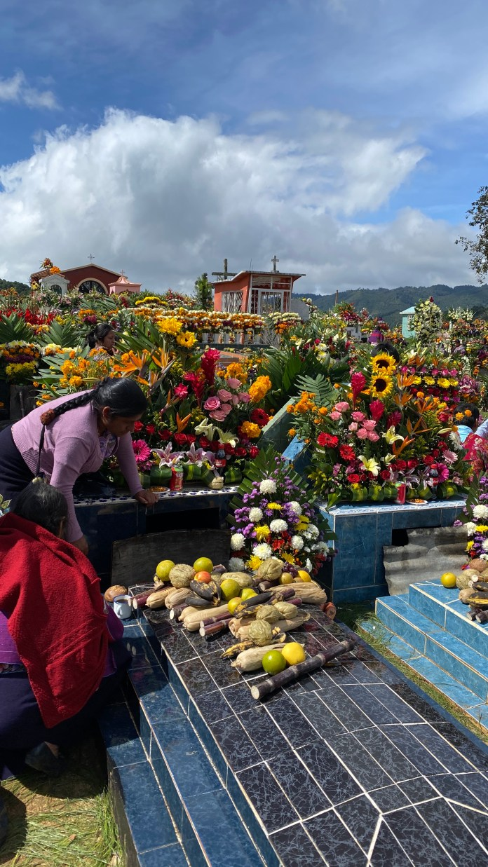 Todas las flores del mundo en el panteón de Zinacantán img 5330