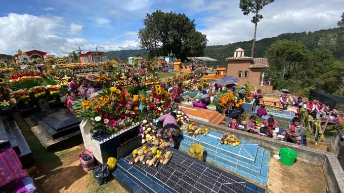 Todas las flores del mundo en el panteón de Zinacantán img 5342