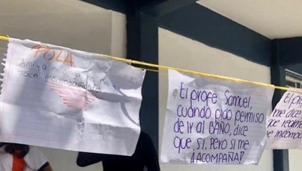 Alumnas exigen castigo para maestros y alumnos abusadores. 89808232 103703424590432 3581282939884797952 n