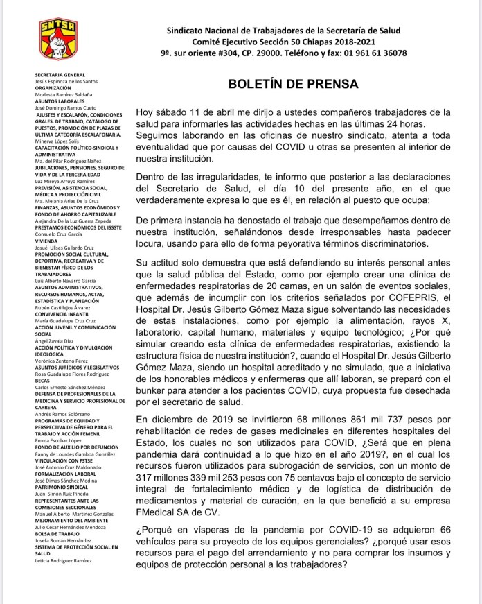 ¡Revuelta de personal médico en Chiapas! IMG 9201