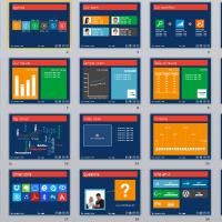 Metro UI style PowerPoint 2010 template