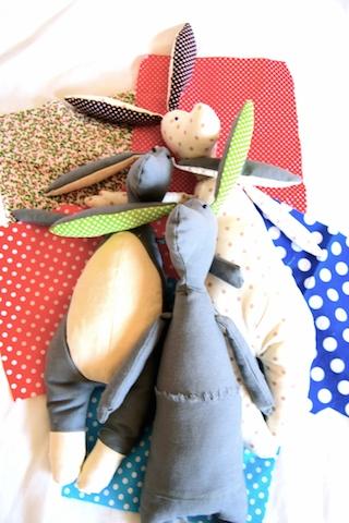 muñecos trapo reciclados, slow life, juego