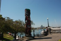 Many totem poles noted in Victoria celebrated the first inhabitants of the area!