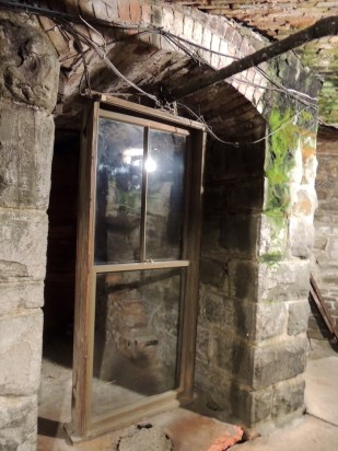Early 1800 era window sills are noted throughout the underground city of Seattle.