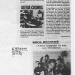 Alésia Cosmos - extrait de presse - 1983