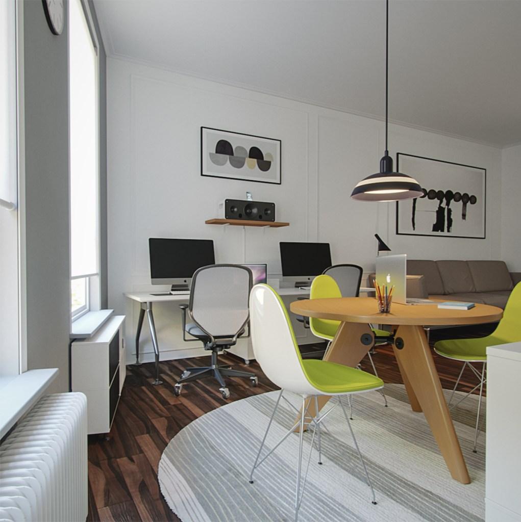 Corona Home Office tutorial interior rendering
