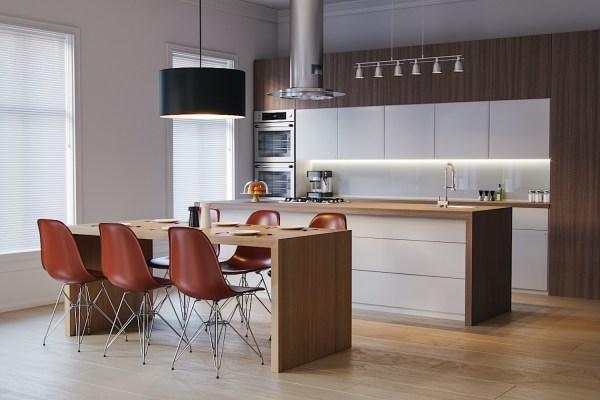 Realistic 3D Kitchen corona render