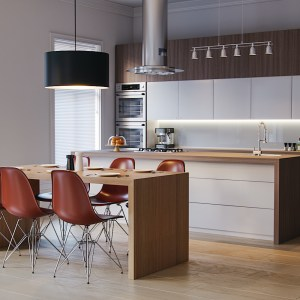 Realistic 3D Kitchen corona render