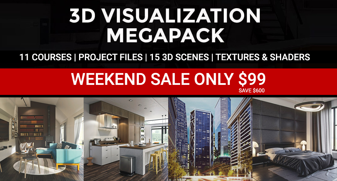 WEEKEND SALE megapack VRAY 3DSMAX DOWNLOAD 3D SCENES