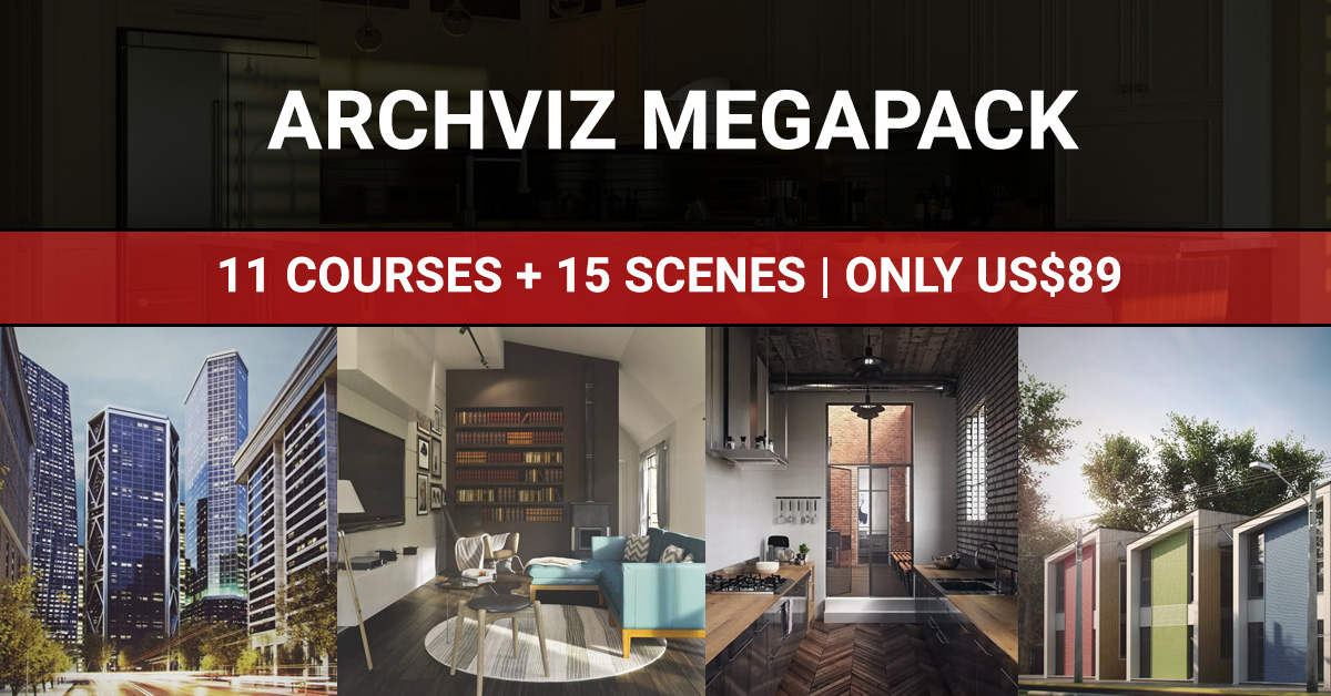 Vray & 3dsmax ArchViz Megapack - 11 Courses + 15 Scenes