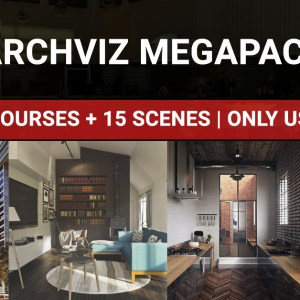 megapack english vray and 3dsmax scenes and courses