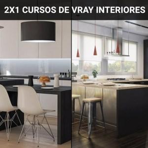 2X1 Cursos de vray para interiores realista 3dsmax