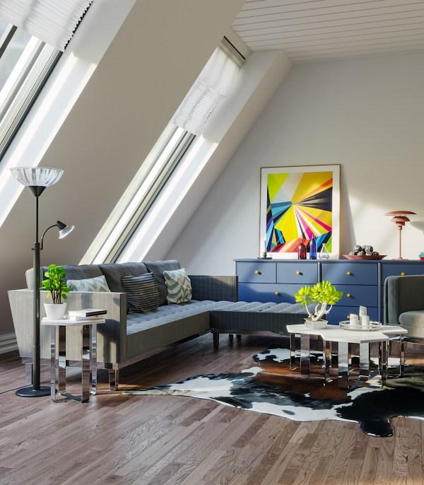 Living Room Vray & Corona 3d scene interior download corona renderer 1