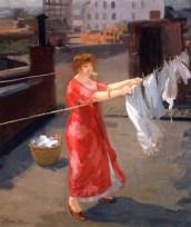 Tetti John Sloan Kimono Rosso sul Tetto 1912