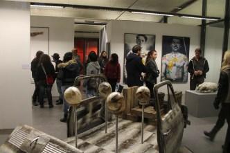 Veduta della mostra SKINCODE con le opere di Giovanni Depaoli, Nicolai Lilin e Fabio Viale