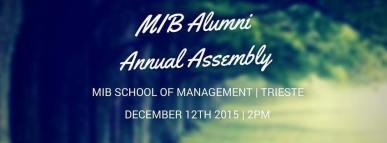 MIB Alumni assembly