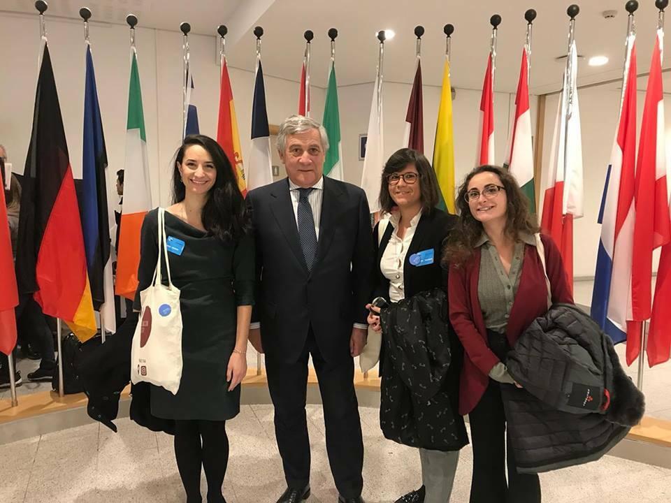 Giusy Sica Con Antonio Tajani