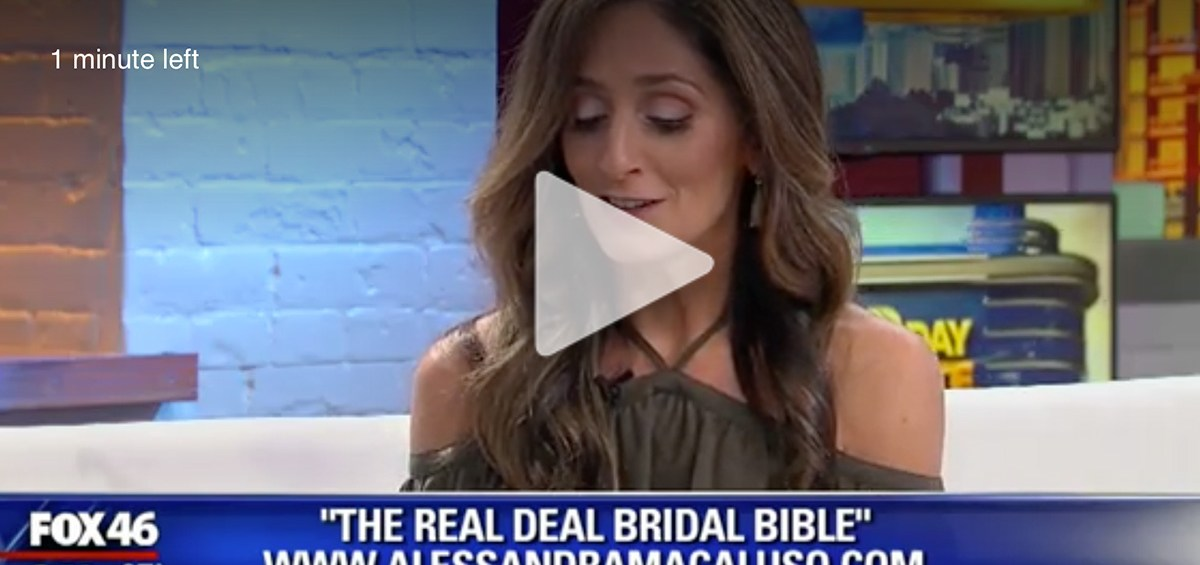 my television segment for the real-deal bridal bible