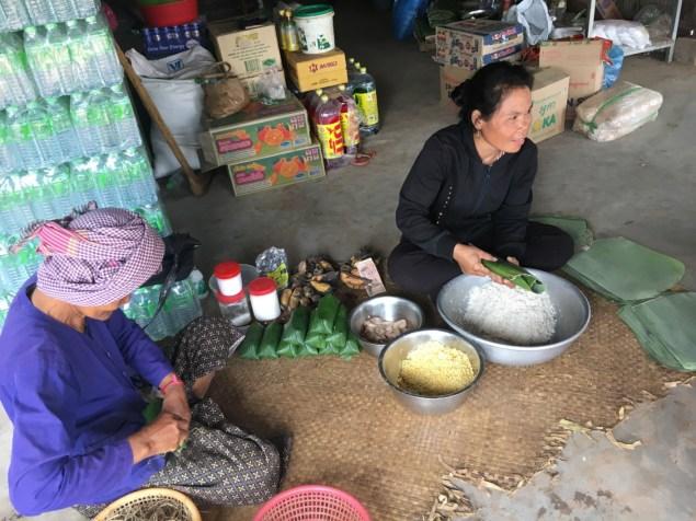 Merenda in preparazione - Cambogia