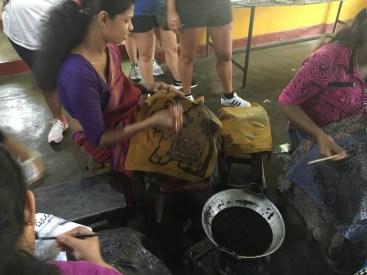 Batik work in progress - Sri Lanka