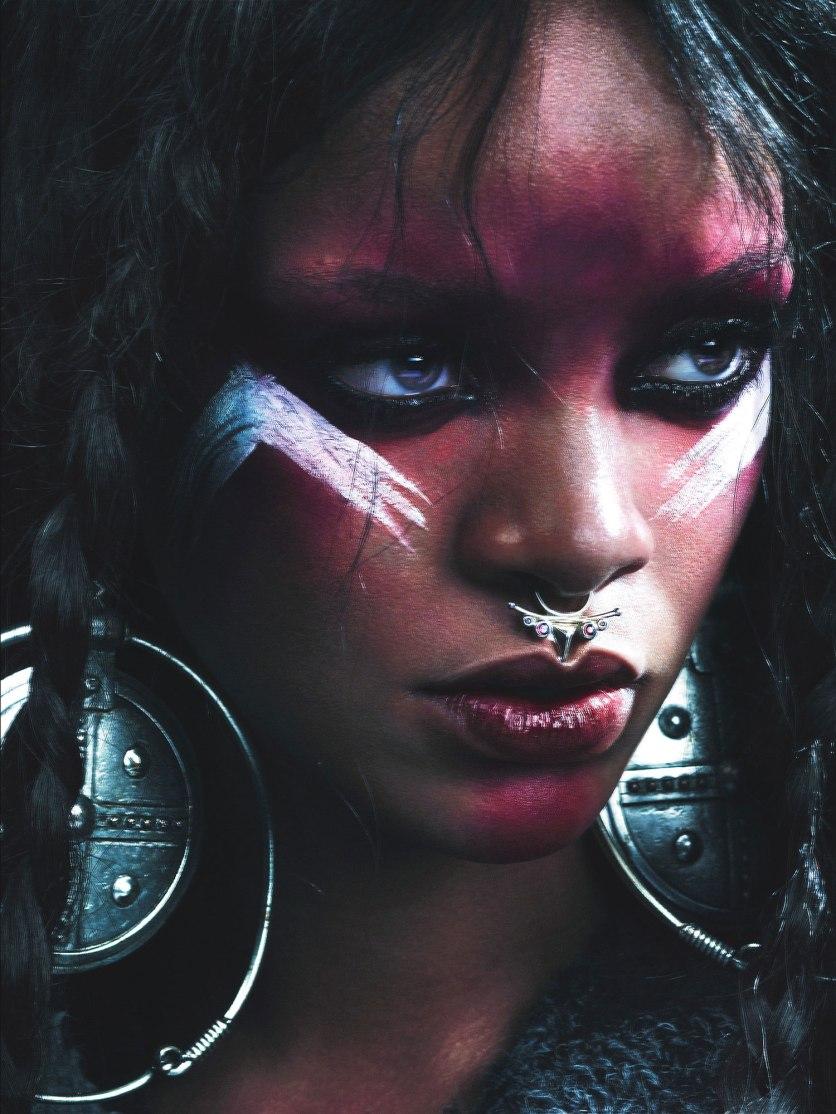 Rihanna, volto di Riri, la sacerdotessa africana della saga dei Venatores (https://alessandrogirola.me/progetti-di-scrittura/venatores/)