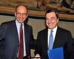 Enrico Letta e Mario Draghi