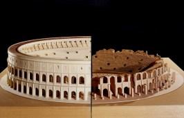 La struttura dell'anfiteatro Flavio come si pensa che fosse, quando fu costruito.