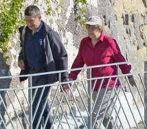 German Chancellor Merkel on Ischia island for Easter holidays