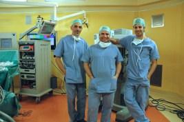 Il Team Anestesisti e a dx Dott Gavazzi