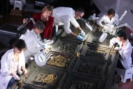 Il restauro delle porte del Paradiso presso l'Opificio