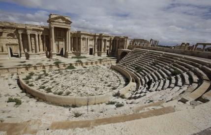 Il teatro nel sito archeologico di Palmira, in Siria. (JOSEPH EID/AFP/Getty Images)