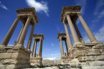 Il sito archeologico di Palmira, in Siria. (JOSEPH EID/AFP/Getty Images)