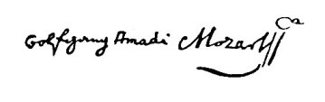 mozart-unterschrift