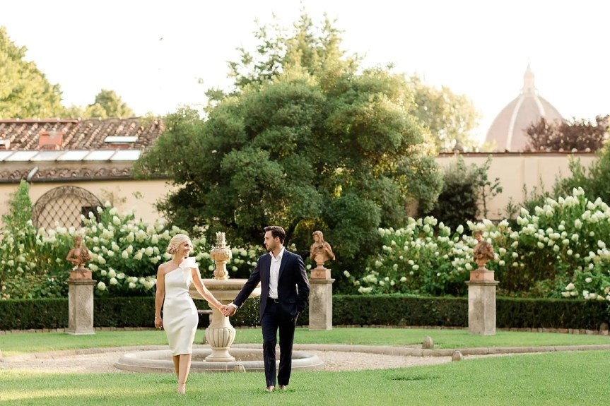 Engagement in Fourseasons Hotel in Florence