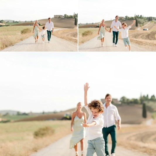 Happy moment during a Family shooting in Tuscany countryside. Picture by Alessandro Taddeini.